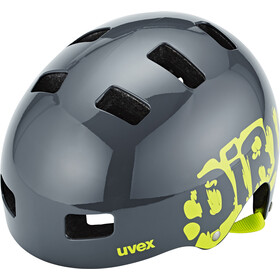UVEX Kid 3 Casque Enfant, dirtbike gray-lime